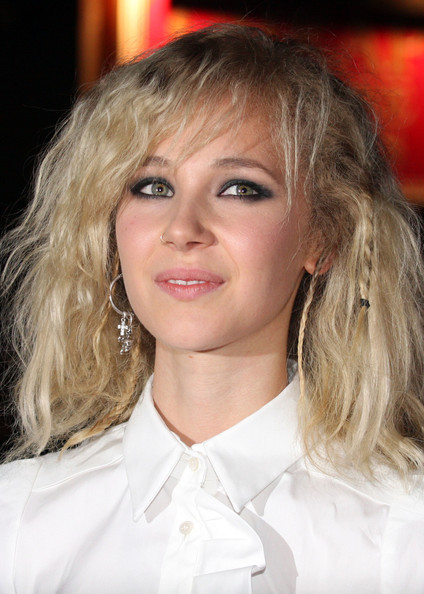 Juno Temple Long Partially Braided