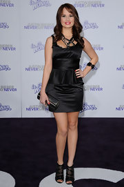Debby attended the premiere of 'Justin Bieber: Never Say Never' in a flirty satin LBD.