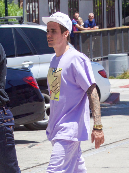 Justin Bieber rocked an expensive-looking gold watch while out and about in LA.