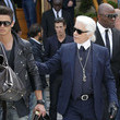 Karl Lagerfeld and Baptiste Giabiconi