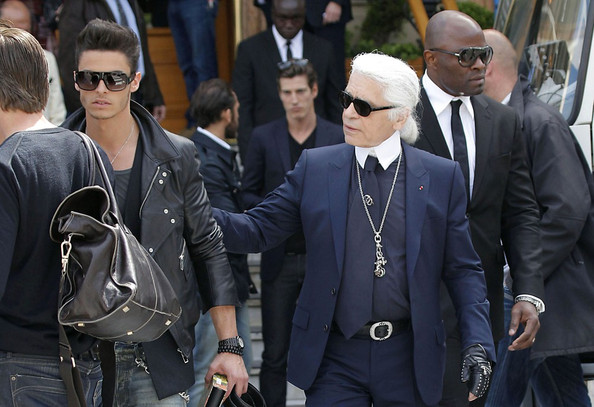 Karl Lagerfeld Films a Chanel Commercial