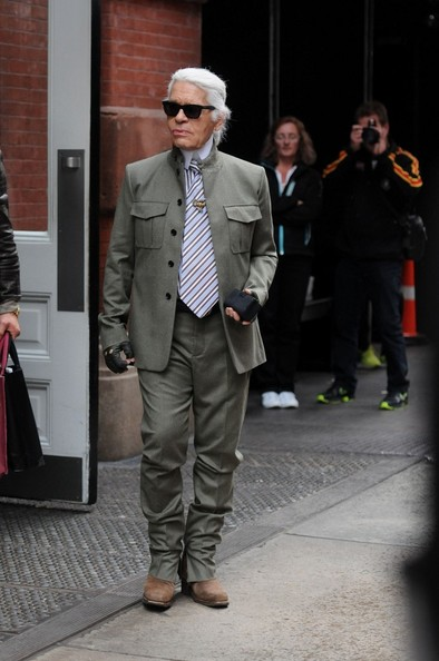 Karl Lagerfeld Out and About