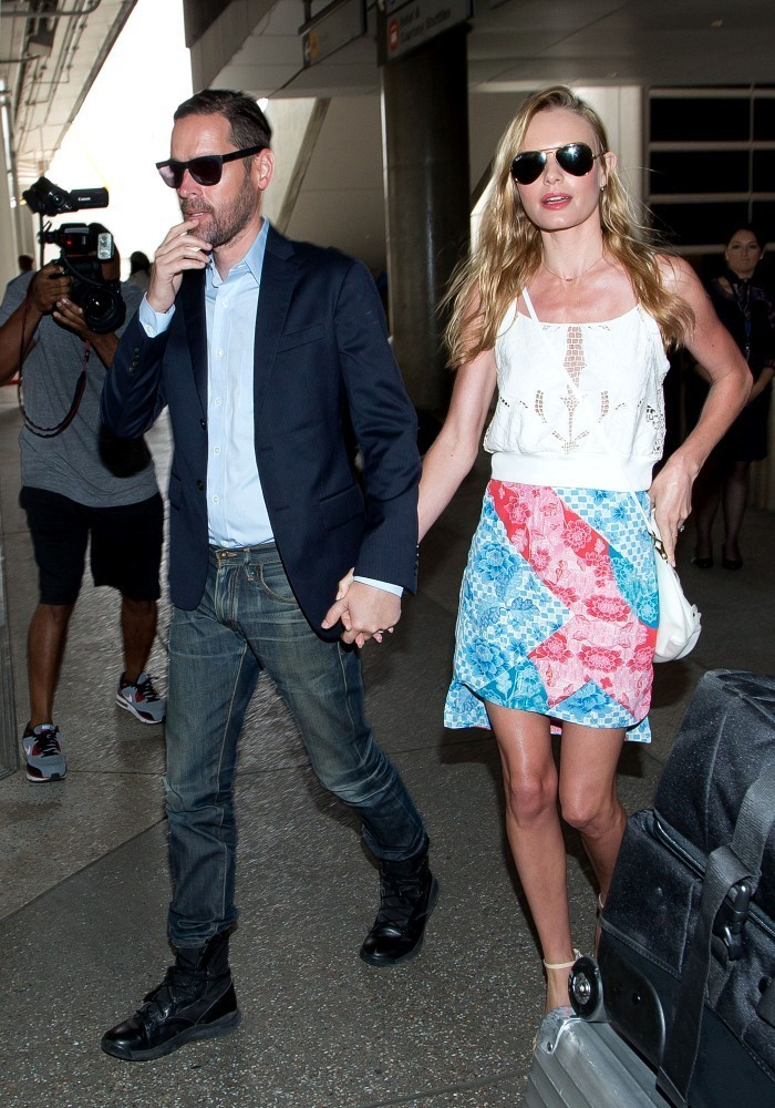 Kate Bosworth and Michael Polish seen at LAX