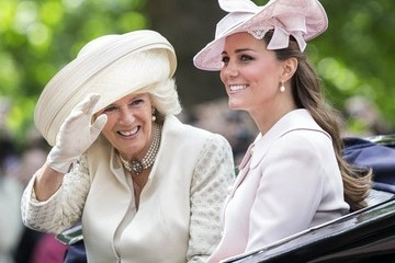 Kate Middleton Camilla Parker Bowles British Royals Attend the Trooping the Colour Ceremony