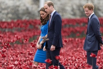 Kate Middleton Prince Harry British Royals Visit the Tower of London