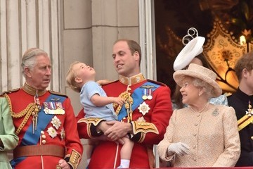Kate Middleton Prince William Prince George Attends the Trooping of the Colour for the First Time