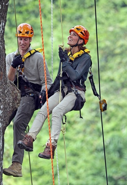 Will and Kate climb trees