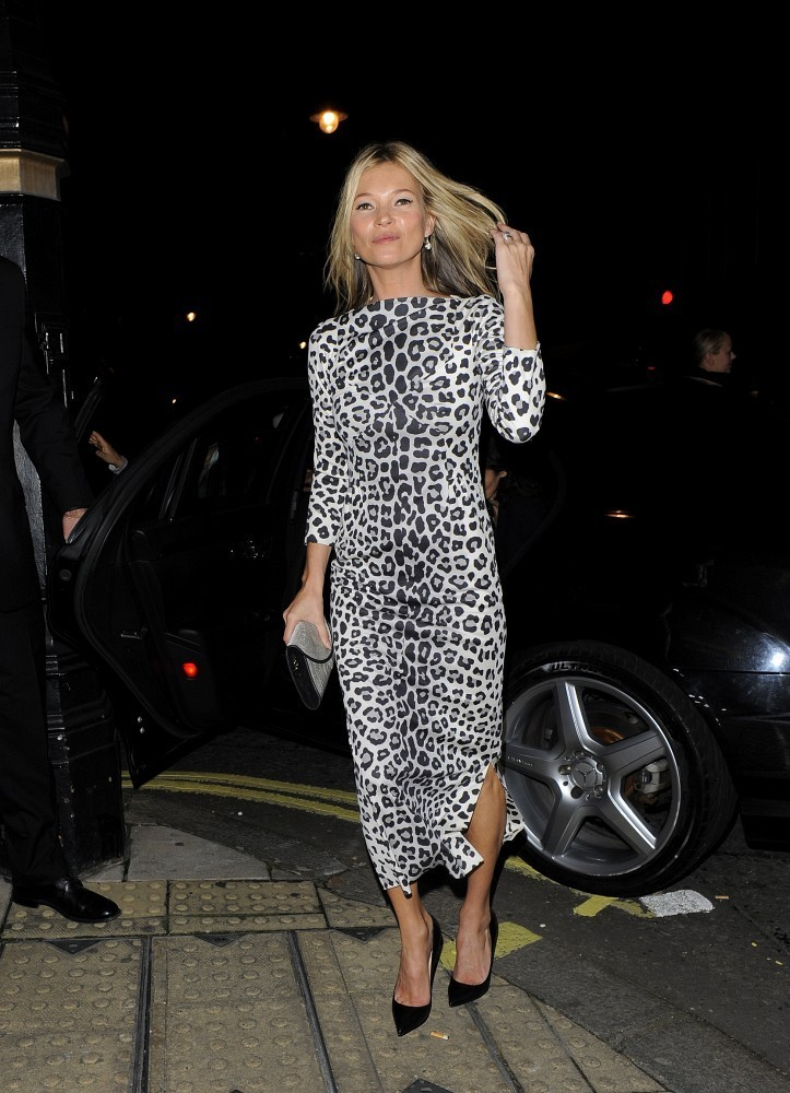 Kate Moss in Leopard Print