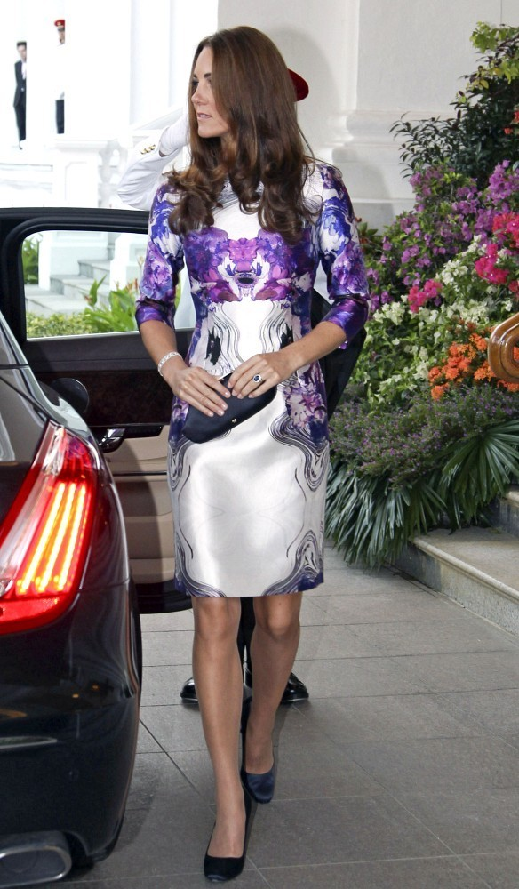 Kate+Middleton in Will and Kate at a State Reception in Singapore