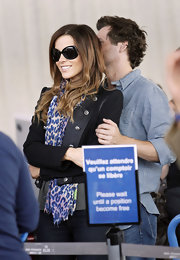 Kate wore the blacked out 778/S sunglasses at the airport in Nice, France.