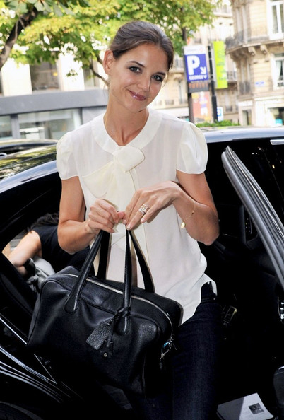 Katie Holmes Leather Bowler Bag