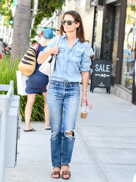 Katie Holmes Ripped Jeans []