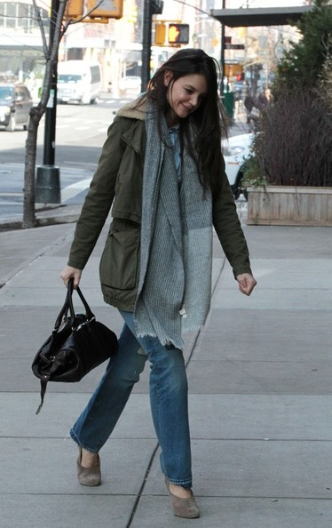 More Pics of Katie Holmes Military Jacket (3 of 7) - Katie Holmes Lookbook - StyleBistro