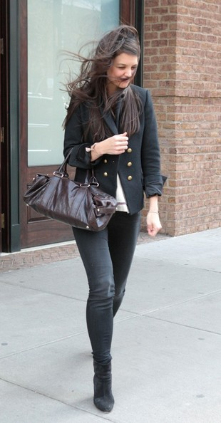 More Pics of Katie Holmes Skinny Pants (2 of 15) - Jeans Lookbook - StyleBistro