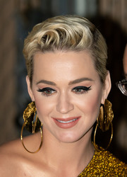 Katy Perry looked oh-so-cool with her fauxhawk while visiting 'Kimmel.'