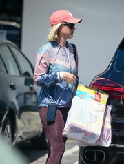 Katy Perry was sporty in a multicolored hoodie and a pair of leggings while out in Los Angeles.