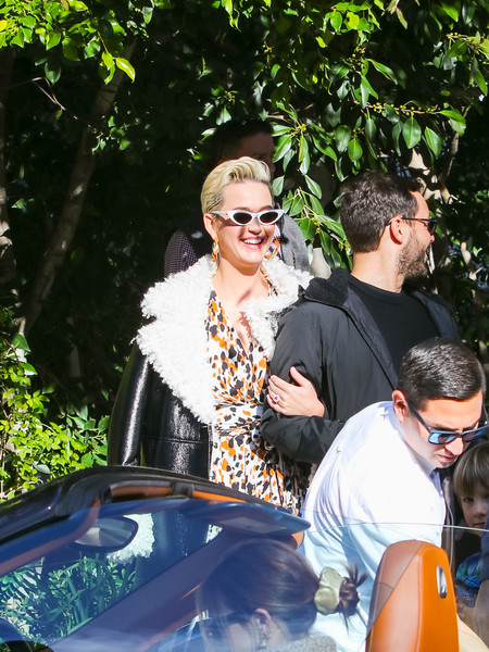 Katy Perry was retro-chic wearing these cateye sunnies from Crap Eyewear at a pre-Oscars bash.