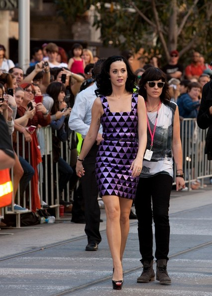 More Pics of Katy Perry Medium Curls (1 of 9) - Katy Perry Lookbook - StyleBistro