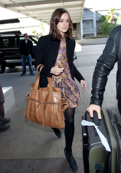 Keira Knightley Leather Tote []