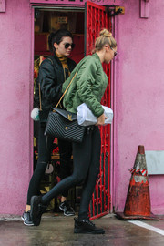 Gigi Hadid was spotted out in L.A. carrying a super-chic Saint Laurent monogram matelassé bag.