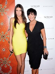 Kris Jenner flaunted her well-polished tips while grasping this prettily-patterned clutch at an event in Sydney.