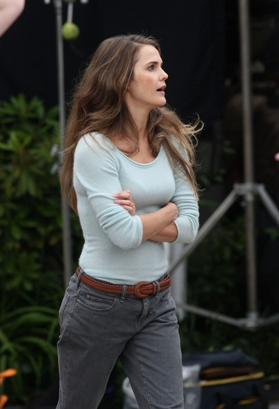 Keri Russell Scoopneck Sweater