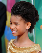 Willow Smith showed off her daring style with a super-high fauxhawk.
