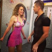Kimberley Walsh showed off her super-fit body in a low-cut, backless beaded dress on 'Strictly Come Dancing.'