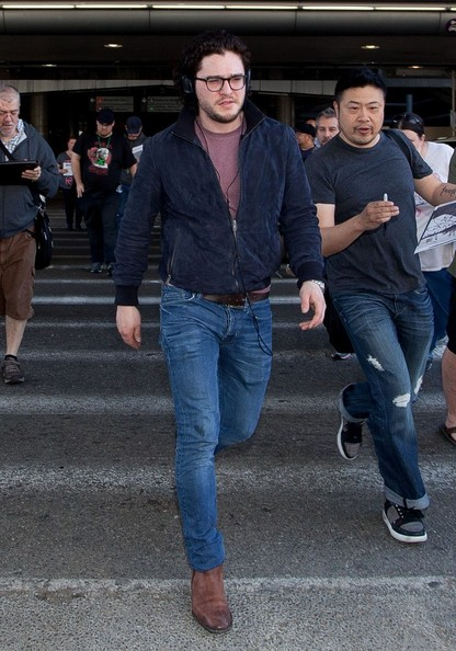 More Pics of Kit Harington Bomber Jacket (1 of 22) - Kit Harington Lookbook - StyleBistro