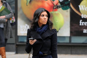 Kourtney Kardashian Wears a Cropped Jacket