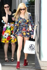 Kristin Cavallari put her gorgeous legs on display in a super-short Wilde Heart floral romper while out in Beverly Hills.
