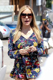 Kristin Cavallari was summer-chic in her oversized cateye sunnies and floral romper while out and about in Beverly Hills.