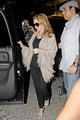 Princess of POP Kylie Minogue is seen arriving at Los Angeles International Airport (LAX) on a flight from Mexico.