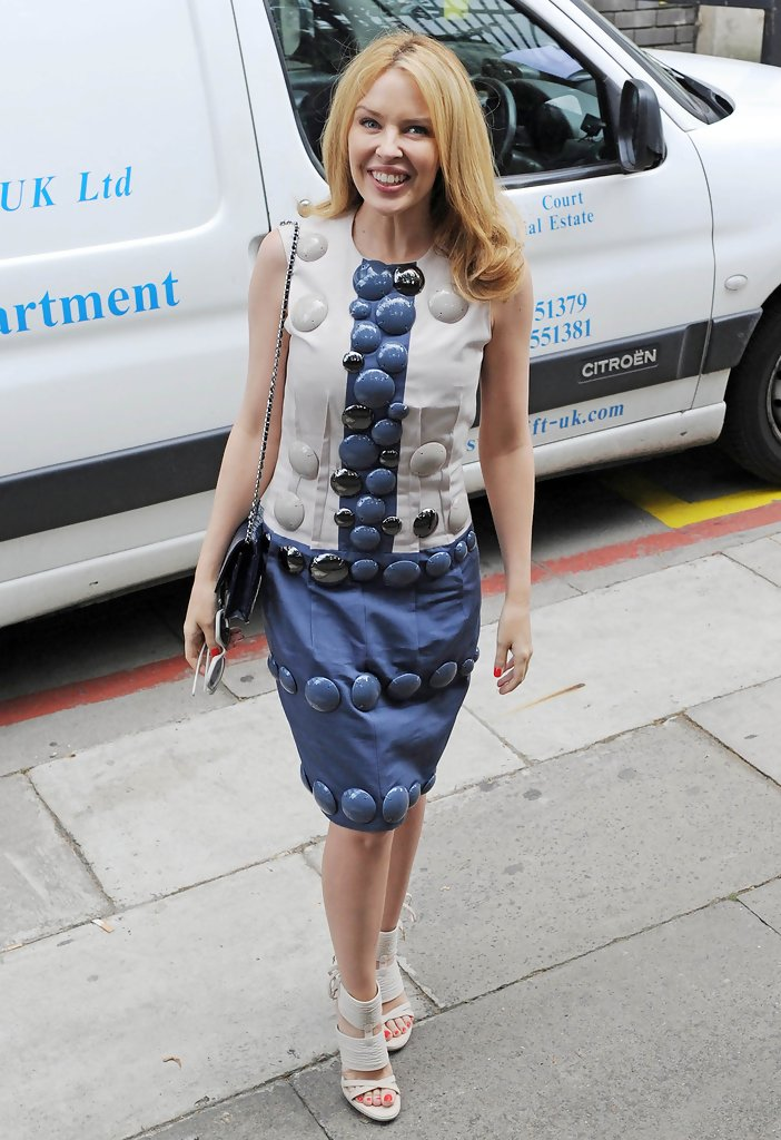 Kylie Minogue arrives at the London Studios.