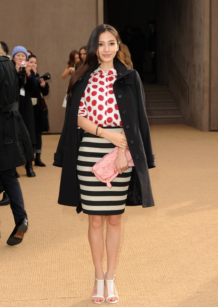 Spots And Stripes At Burberry The Most Standout Street