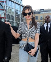 Daisy Lowe sported a pair of cute cateye sunnies while headed to the Topshop Fall 2014 show.