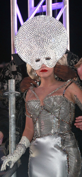 Lady Gaga Jeweled Gloves