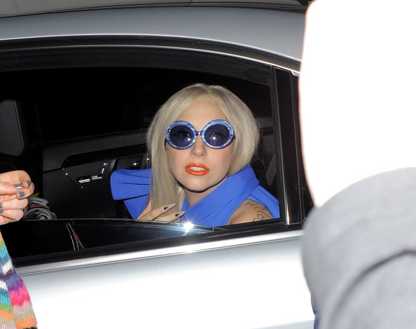 Lady Gaga Oval Sunglasses