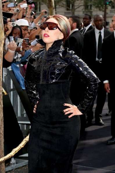 Lady Gaga Rectangular Sunglasses