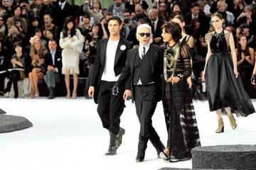 Karl Lagerfeld Baptiste Giabiconi Chanel Ready-To-Wear Show