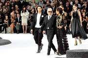 Karl Lagerfeld and Baptiste Giabiconi Photo