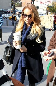 Unaccustomed to the brisk NYC weather, Cali-girl Lauren Conrad got all bundled up in this chic wool pea coat.