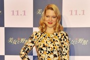 Lea Seydoux Print Dress