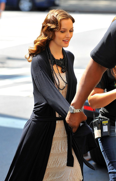 Leighton Meester Layered Beaded Necklace