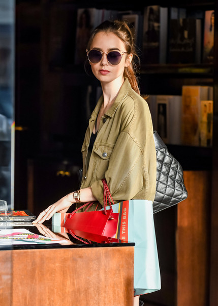 Lily Collins Cateye Sunglasses []