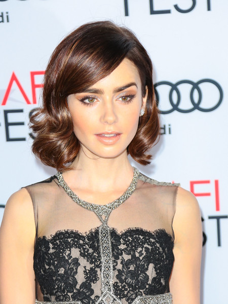 Lily Collins Short Curls