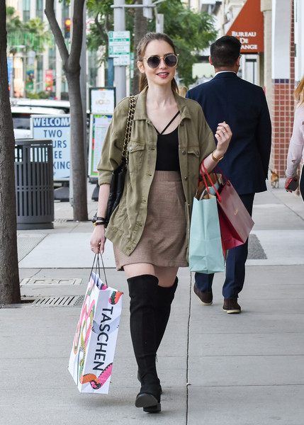 More Pics of Lily Collins Military Jacket (1 of 39) - Lily Collins Lookbook - StyleBistro []