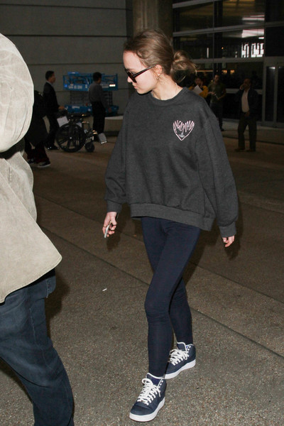 Lily-Rose Depp Leather Sneakers []