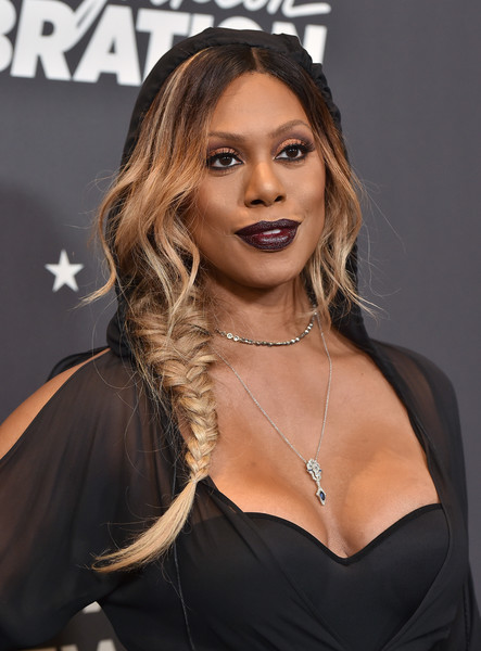 Laverne Cox went for fairytale glamour with this loose side braid at the 'Lip Sync Battle LIVE: A Michael Jackson Celebration.'