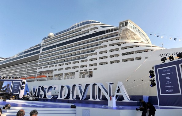 Sohpia Loren Launches the MSC Divina